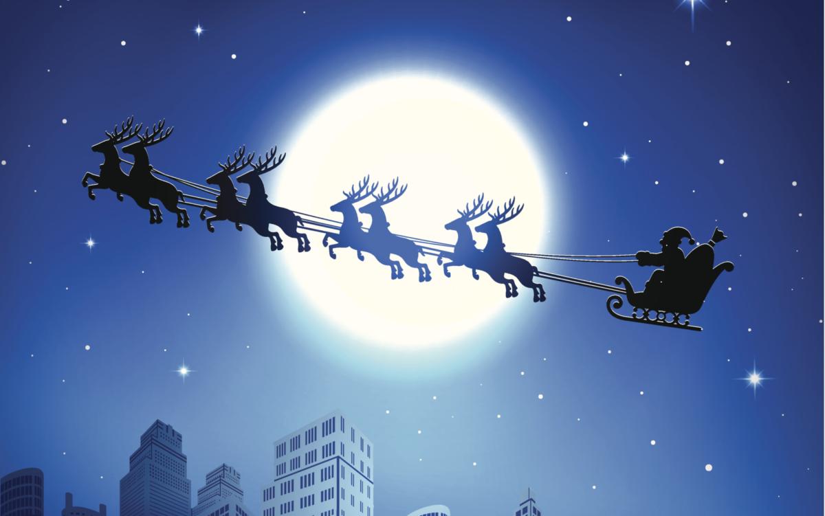 Mikołaj nocą przycięty